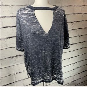 Free People Tops - {We the Free} Jordan cut out burn out tee